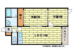 西岡ビル[2階]の間取り