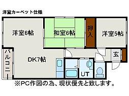 西岡ビル[5階]の間取り