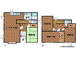 [テラスハウス] 北海道札幌市南区中ノ沢6丁目 の賃貸【/】の間取り