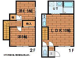 ブライトイシヤマ2(21〜26号室)[1階]の間取り