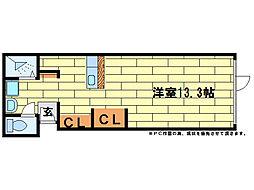 KAMOKAMO[2階]の間取り