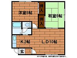 プリメーラ54[1階]の間取り
