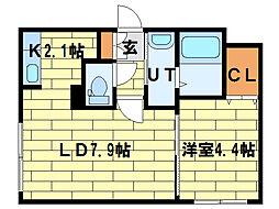 カルディーノ澄川[1階]の間取り