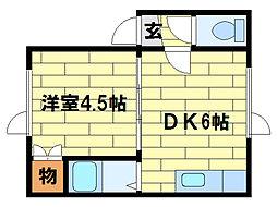 川沿中央ハイツA・B[2階]の間取り