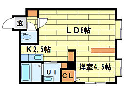 ロワ・ボヌール[1階]の間取り