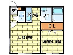 エトワール(澄川2-3)[1階]の間取り