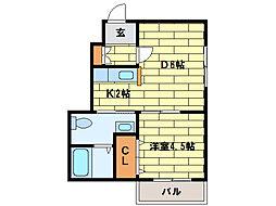 パールハイム平岸(3-7)[3階]の間取り