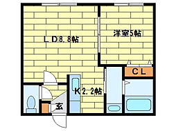 レジナス澄川[2階]の間取り