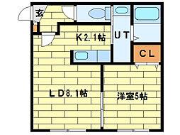 North Points澄川[2階]の間取り
