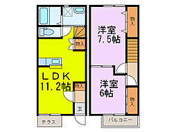 [テラスハウス] 埼玉県加須市常泉 の賃貸【埼玉県 / 加須市】の間取り