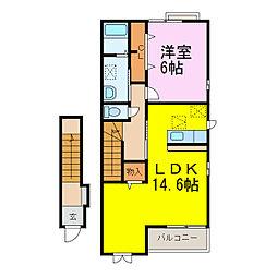 マードレ六番館[2階]の間取り