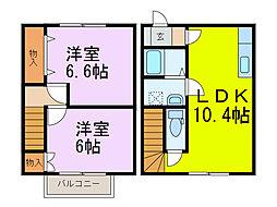 [テラスハウス] 埼玉県加須市上樋遣川 の賃貸【埼玉県 / 加須市】の間取り