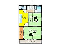 富士荘[2階]の間取り