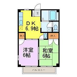 エルみなみ[1階]の間取り