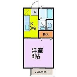 レイクヒル弐番館[2階]の間取り