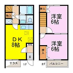 [テラスハウス] 埼玉県行田市谷郷3丁目 の賃貸【/】の間取り