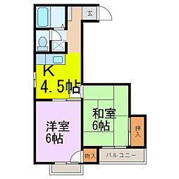 MOMOYAハイツ[2階]の間取り