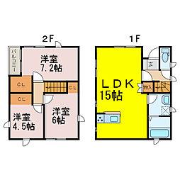 [一戸建] 埼玉県加須市東栄2丁目 の賃貸【/】の間取り