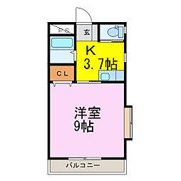 ラフォーレ・アイリバー[2階]の間取り