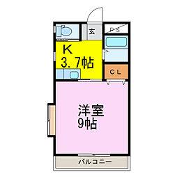 ラフォーレ・ピース[2階]の間取り