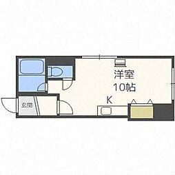 北海道札幌市中央区南十六条西9丁目の賃貸アパートの間取り