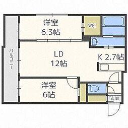 ASAHIYAMA CITY STELLA[2階]の間取り