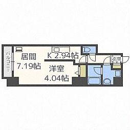 PRIME URBAN札幌医大前[5階]の間取り