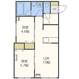 Terrace fino[1階]の間取り
