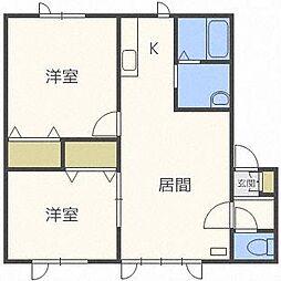 セジュールME 2号館[1階]の間取り