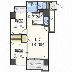 スクエアマンション6.14II[4階]の間取り