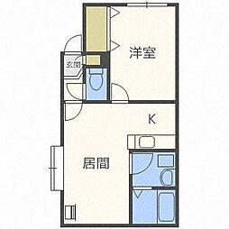 ペパーミント[1階]の間取り
