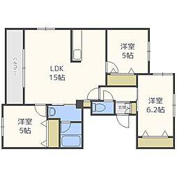 仮)南14西9マンション[4階]の間取り