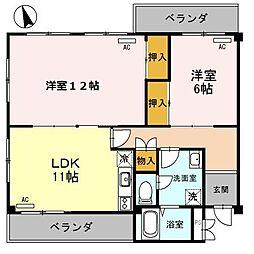 兵庫県姫路市嵐山町の賃貸アパートの間取り