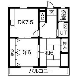 レジデンス香呂[304号室]の間取り