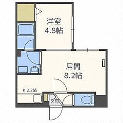 HAL CASA新札幌 4階1LDKの間取り