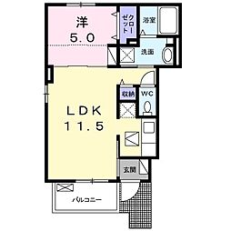 JR東海道本線 戸塚駅 バス12分 遊水地前下車 徒歩3分の賃貸アパート 1階1LDKの間取り