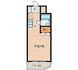 メゾン・ド・リテレール 4階ワンルームの間取り