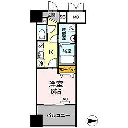 Trio Mare 蔵前(トリオマーレクラマエ) 12階1Kの間取り