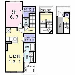 マーベラス 3階1LDKの間取り