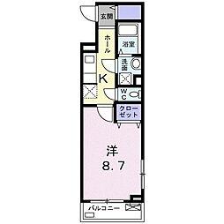 MIYAKO 2階1Kの間取り