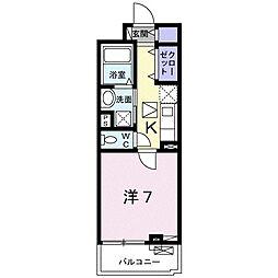 近鉄天理線 天理駅 徒歩5分の賃貸アパート 1階1Kの間取り