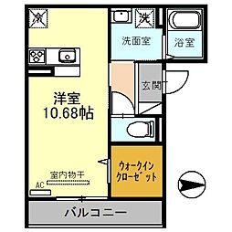 JR埼京線 戸田駅 徒歩11分の賃貸アパート 3階ワンルームの間取り