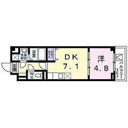 ホマーロ品川 2階1DKの間取り