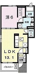 Flat 樹 1階1LDKの間取り