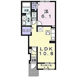 大衡村大衡アパート(025573801) 1階1LDKの間取り