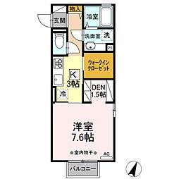 (仮)D-room平柳町 1階1Kの間取り