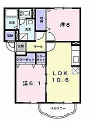 メゾン SaKuRaII 3階2LDKの間取り