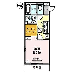 (仮)D-room琴平一丁目 1階1Kの間取り