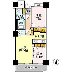 品川シーサイドビュータワー I 6階2LDKの間取り