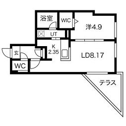 CORORE NANGOU(コローレ南郷) 1階1LDKの間取り